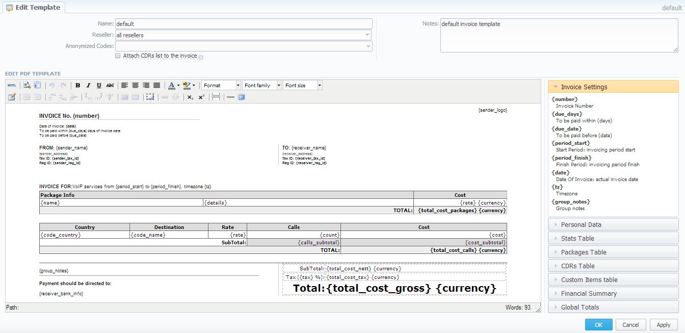 Invoices Templates Vcs 3 5 X Jerasoft Docs