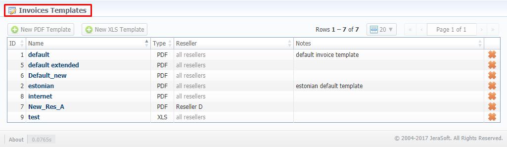 Invoices Templates - VCS 3 15 x - JeraSoft Docs