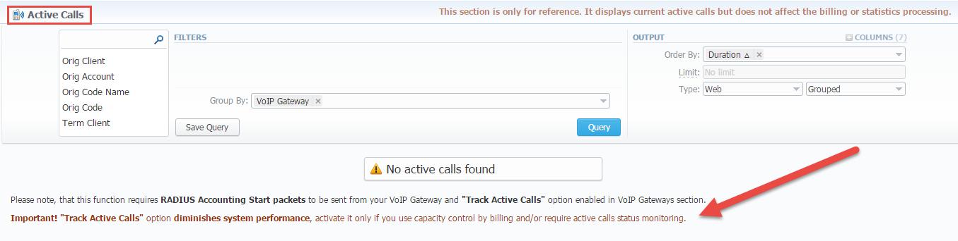 Active Calls - VCS 3 11 x - JeraSoft Docs